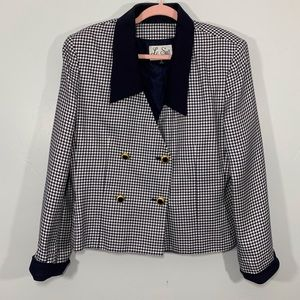 Vintage | Plus Size Sailor Vibe Button Work Blazer